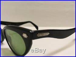 Selecta Eyeglass Frames Vintage Black Rare 1950's 12K GF Women Glasses