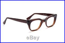Smart ROCKY eyeglasses of the 60s by SELECTA USA brown mist 48-24mm L32
