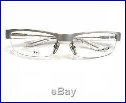 Starck Eyes P0752 05 Eyeglasses Silver Crystal Clear Frame 58mm Alux Vintage