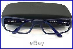 Starck Eyes PL0726 0006 Eyeglasses Matte Blue Frame Vintage 58mm