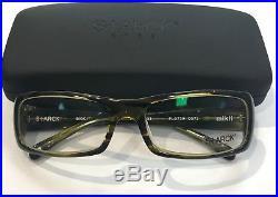 Starck Eyes PL0739 0073 Eyeglasses Yellow Green Havana Frame Vintage 57mm