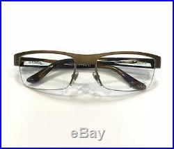 Starck Eyes PL0751 0004 Eyeglasses Matte Bronze Havana Brown Frame 58mm Vintage