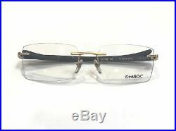 Starck Eyes PL0903 0703 Eyeglasses Bronze Dark Matte Brown Frame 56mm Vintage