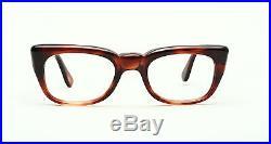 Strong vintage 1960s men eyeglasses Selecta Rocky in Demi Amber 48-20mm