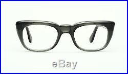 Strong vintage 1960s men eyeglasses Selecta Rocky in Smoke, size 48-20mm