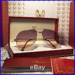 Sunglasses Cartier Vendome Louis 18 gold (occhiali, lunettes)