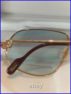 Superbe Lunette Cartier Vendome Louis 59-14-140 de soleil teinte jaune
