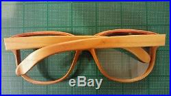 Thibaut de Monts All Wood Eyeglass FrameVintage 1980's Handmade Extremely RARE