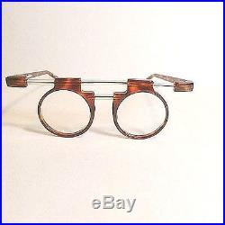 Tortoise Shell Round JC de Castelbajac Modernist Gemini Handmade Eyeglass Frames