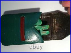 True VINTAGE LUGENE green FOLD-UP Toirtoseshell Acetate Frame & case