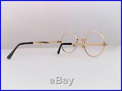 True Vintage S. J. Round 1/20th 14k Gold Filled Eyeglass Frames Nos France Unique