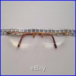 USED CARTIER Titanium 140 FRANCE Glasses Eyeglasses Gold
