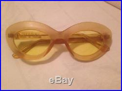 VERY RARE AUTH VINTAGE CHANEL CAT EYE SUNGLASSES FROM 1960s