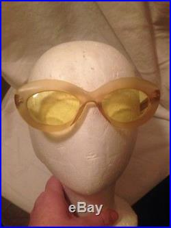 VERY RARE AUTH VINTAGE CHANEL CAT EYE SUNGLASSES FROM 1960s REDUCED