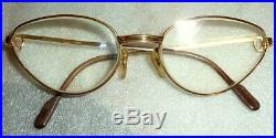VINTAGE 1990S CARTIER MADE IN FRANCE 5419 135 CAT EYE WOMEN EYEGLASS FRAME WithBOX