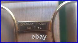 VINTAGE 80's VENDOME SANTOS CARTIER GOLD EYEGLASSES 62-14 140 LUNETTES monture