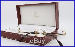 Vintage Cartier C-decor Rimless 22 / Gold Luxury Frame /france