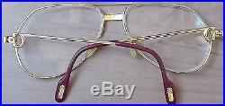 Vintage Cartier Paris France Eyeglasses Gold Filled Frame 130 56 14