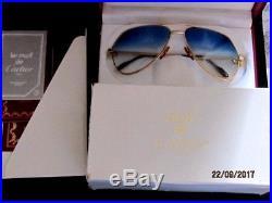 VINTAGE CARTIER VENDOME EYEGLASSES SUNGLASSE GP GOLD LUXURY M/france demo lens