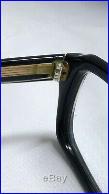 VINTAGE CATEYE FRAME FRANCE WH MORE GLASSES EYEGLASSES SQUARE THICK BLACK 70s