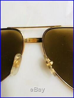 VINTAGE GOLD CARTIER MUST SANTOS SUNGLASSES/EYEGLASSES 55/20 Frame 140