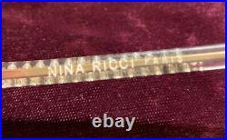 VINTAGE Ninna Ricci Rhinestone Eyeglass Frames Paris France