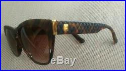 VINTAGE RARE ARIA France Oversized Brown Tortoise Sunglasses Eyeglasses Frames