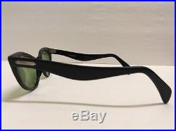 VINTAGE RARE Selecta Black 1950's 12K GF Eyeglass Frames Women Glasses