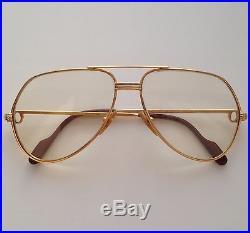 VINTAGE USED CARTIER VENDOME Santos SUNGLASSES FRANCE Glasses 18K