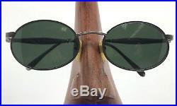 VINTAGE VUARNET 014 GM POUILLOUX FRANCE Black Oval Sunglasses Eyeglasses Frames
