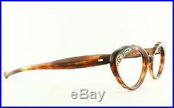 VTG 60's NOS GHG Tortoiseshell Eyeglass Frames with Rhinestones Gold Oval France