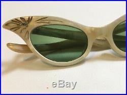 VTG Cat Eye Glasses 30s-50s Womens Prescription EyeGlasses Old France Aime Rare