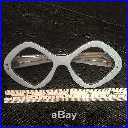 VTG DOSCAR FRANCE Light Blue POP ART Retro Eyeglasses Mask Cateye Frame Glasses