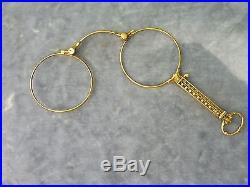 Very Fine 14k Gold Lorgnette Glasses 8 Penny Weights