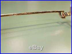 Vintage 100% Authentic CARTIER SANTOS Gold Platinum Frame Eyeglasses France RARE