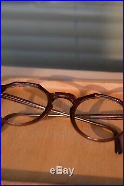Vintage 1940-1950 era frame crown Panto Dots Eyeglasses Made In Germany