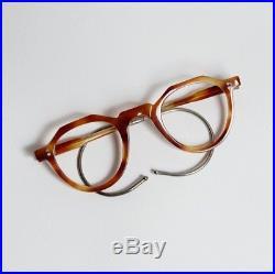 Vintage 1940's Crown Panto Eyeglasses Frame France Handmade In France