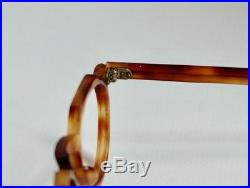 Vintage 1940s French Eyeglasses Thick Crown Panto Keyhole Bridge Made In France