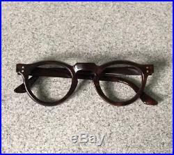 Vintage 1940s French Panto Eyeglasses Handmade In France Corbusier Model / 8 mm