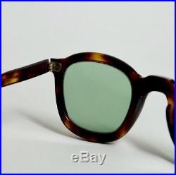 Vintage 1940s French eyeglasses dark amber classic frame Handmade in France
