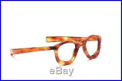 Vintage 1940s thick framed acetate eyeglasses in demi blond in 40 22 mm EG 50