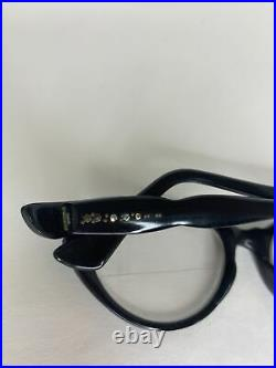 Vintage 1950s Selecta Cateye Glasses Frames France with Leather Case