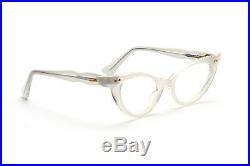 Vintage 1950s cateye eyeglasses Selecta Bijou Velvet Silver 46-20mm #EG3