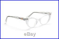 Vintage 1950s cateye eyeglasses Selecta, Bijou in velvet silver 46-22 mm #EG32