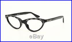 Vintage 1950s cateye eyeglasses by Selecta Caresse Decor black #EG 1-12