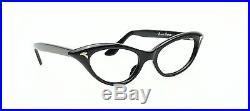 Vintage 1950s cateye eyeglasses by Selecta, Mod. Anette in black
