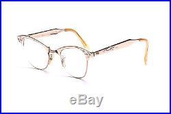 Vintage 1950s cateye eyeglasses in gold by Art Craft Alum USA in 46-22 mm EG 18