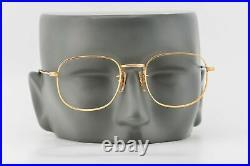 Vintage 1960s Eyevan Gold Square 12KGF Glasses Frames Made in France 48-20