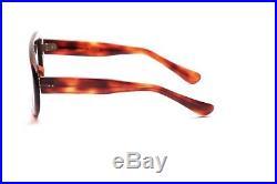 Vintage 1960s brown mask eyeglasses for men, Frame France in 54-24mm EG4