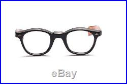 Vintage 1960s eyeglasses in black brown with straight arms hotter than Tart W6